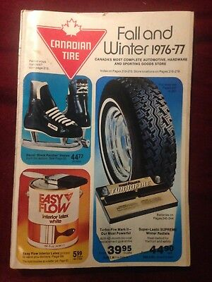Vintage Canadian Tire Catalog Fall and Winter 1976-1977 Catalog Rare