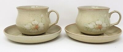 Denby Daybreak - 2 x Tea Cup & Saucer- 1st Quality - Very Good Condition
