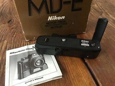 NIKON Motor Drive MD-E w Instruction Manual and box