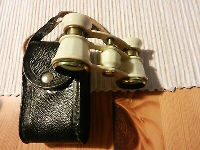 Nachlass - Altes Opernglas 2,5 x 65 - Made in USSR - im Leder-Etui
