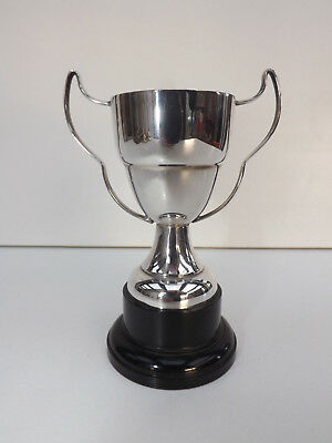 Small Vintage Silver Plated Trophy On A Bakelite Base