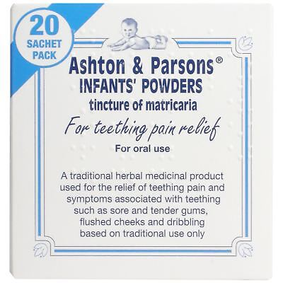 Ashton & Parsons Infants Powders For Teething Pain Relief - 20 Sachets