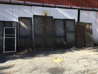 Victorian Screen  & Wood Door Lot of 10.architectural salvage Double doors Wow!