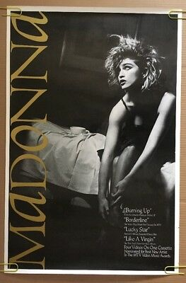 Madonna Vintage Poster Ad Promo Ad pin-up 1980's Like a Virgin 80's Music Sexy