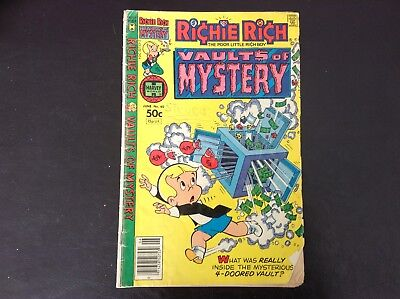 """June 1981  #40   50 cent Richie Rich """"Vaults of Mystery""""37 year old comic book"""