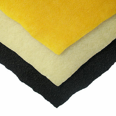 "1/8"" (3.2mm) Crepe Rubber - 18"" x 20"" Sheets - 3 Colors"