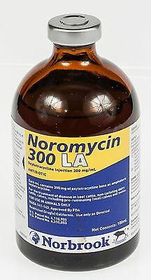 Noromycin 300 LA 100ml Beef Cattle Dairy Cattle Calves Swine Antibiotic Norbrook