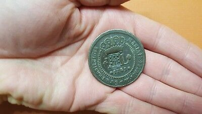 Rare 1781 Brazil 40-Reis Counterstamped Copper Coin -- very nice!