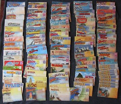 (115) Souvenir Picture Postcard Packets - Most Postmarked 1944-45