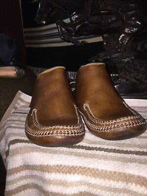 Carl Dyer Rendezvous Handmade Leather Mocassin Style Shoes. RARE! Size 9 1/2.