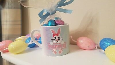 Easter Bunny Mug/Personalised Easter Cup/Easter egg cup with name/Children's mug
