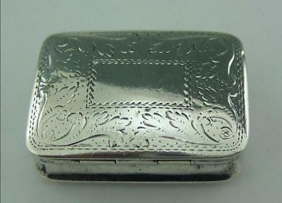 Nice Antique Solid Silver Vinaigrette Nathaniel Mills