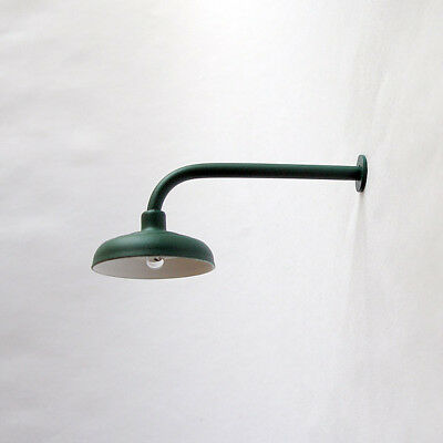 G-Scale Model Train Building/Depot/Station L-Shaped Lamp/Light Green NEW