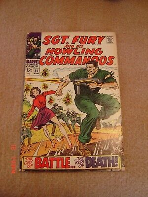 Combat, Army at War and Sgt. Fury Comic Books Lot of 5