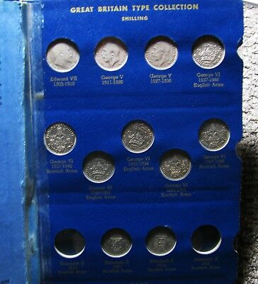 Great Britain Silver Type Set Great Britain Minor Type set Whitman sets Coins