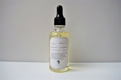 Body & Face Beauty Oil Sweet Almond 100% Natural Massage Dark Circle Remover