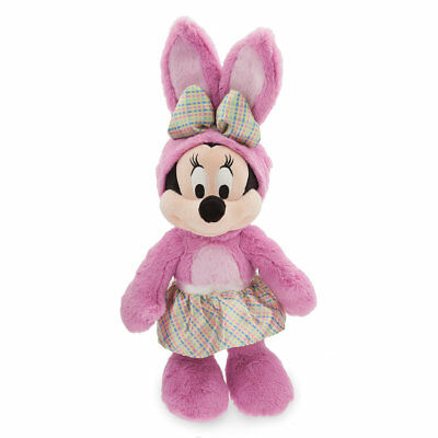 Disney Store Minnie Mouse Easter Bunny Medium Plush New with Tag