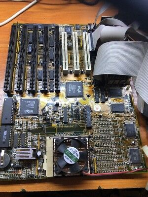 Vintage Socket 7 Motherboard And Pentium 100 Cpu Combo