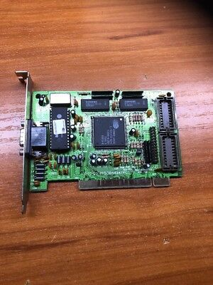 Vintage Cirrus Logic 1mb Pci Video Card