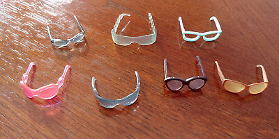 Barbie Doll 7 Glasses - Mixed Lot - All Different - Cute