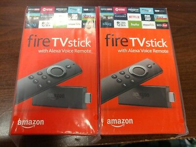 Two Amazon Fire TV Stick HD 2019 w/Alexa Voice Remote 2x Lot $33.50 EACH!!!