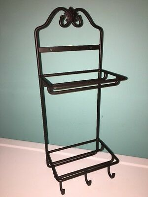 Black Longaberger Foundry Wrought Iron Tea Rack And Stack Hanging Hooks