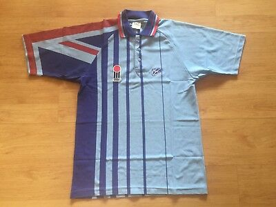 England 1994 One Day Cricket Isc Vintage Shirt Jersey Large