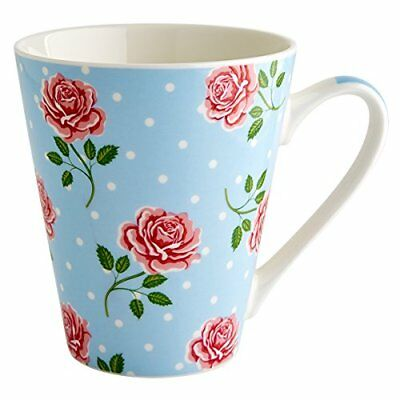 Fairmont & Main Vintage Rose – Taza de porcelana, porcelana, color azul