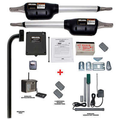 Mighty Mule Triton II Deluxe Automatic Dual Gate Opener Package
