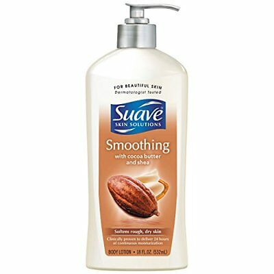 Suave Skin Solutions Body Lotion, Smoothing with Cocoa Butter and Shea 18 oz