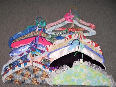 Bulk Lot Of 15 Vintage Retro Knitted And Padded Coat Hangers  - Very Kitsh