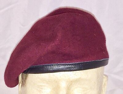 WWII British Airborne Maroon Para Beret, Size Medium, New