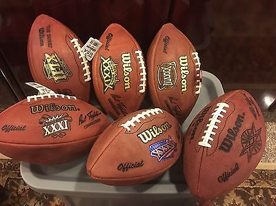 New England Patriots Official Wilson Super Bowl Game Ball Collection- Lot of 10