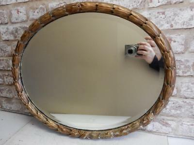 REALLY old mirror art nouveau gesso wall MIRROR