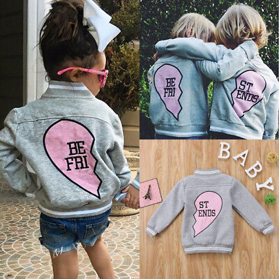 USA Stock Kids Child Baby Boy Girl Clothing Jacket Coat Snowsuit Tops Outerwear
