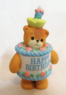 Lucy & Me ~ Happy Birthday Cake with Candle ~ Lucy Rigg Enesco Figurine