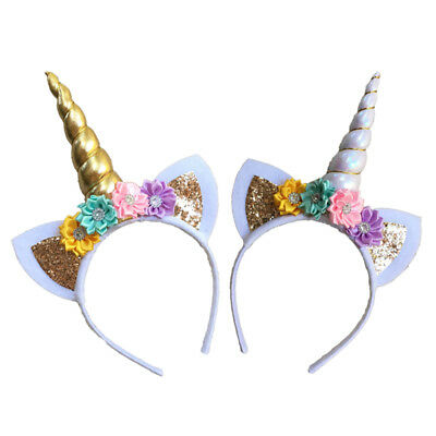 US Stock Magical Unicorn Horn Head Party Kids Hair Headband Fancy Dress Cosplay