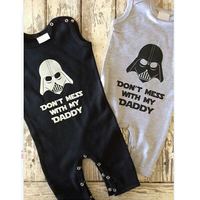Baby Boy Girl Infant Toddler Star Wars Romper Jumpsuit Playsuit Bodysuit Outfits