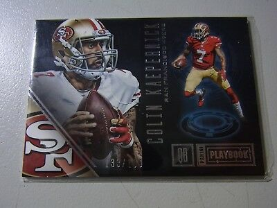 2016 Panini Playbook Parallel NFL Card Of Colin Kaepernick 49ers #133/199