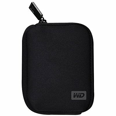 WD Zippered Protective Case For My Passport Portable External Hard Drive Black