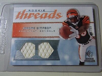 2008 Upper Deck SP Rookie Threads Dual Patch Parallel Jerome Simpson #59/99