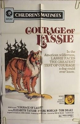 Courage Of Lassie Original Movie Poster One Sheet Pin-up 1972 Children's 1970's