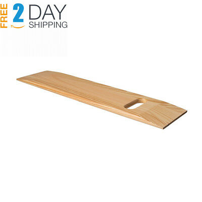 Mabis Wooden Transfer Slide Board Wheelchair With Two Cut Out Handles Southern