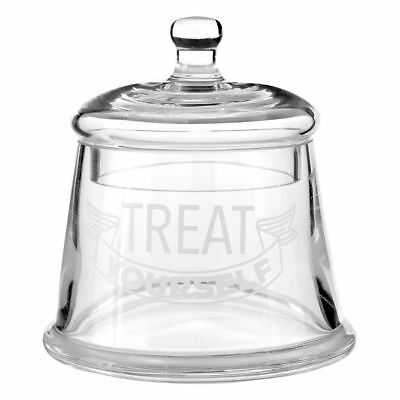 Treat Yourself Kitchen Storage Jar Bell Shape Design Glass Lid Rounded Handle