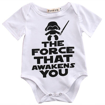 AU Star Wars Baby Boy Girl Infant Bodysuit Romper Cotton Clothes Outfit 0-18M