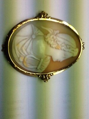 Broche Ancienne camee  Entourage Or