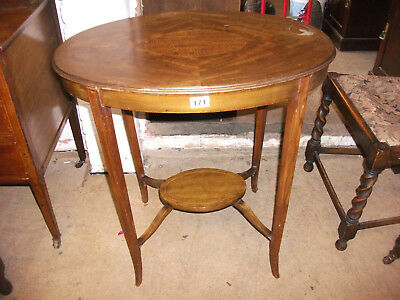 171 - Edwardian Mahogany Two Tier Occasional Table