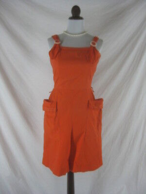 Vtg 40s 50s Pina Short by ALamo Womens Vintage Red Cotton Overall Shorts W 28