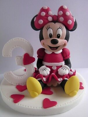 Minnie Mouse handmade edible Sugarpaste cake topper decoration birthday