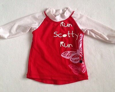 RUN SCOTTY RUN Baby Girls Long Sleeve Rashie SIZE 0